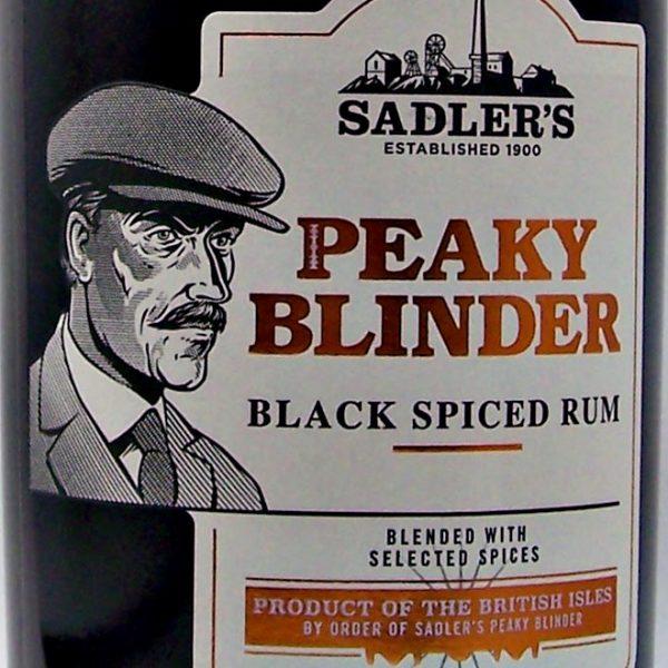 Peaky Blinder Sadlers Black Spiced Rum