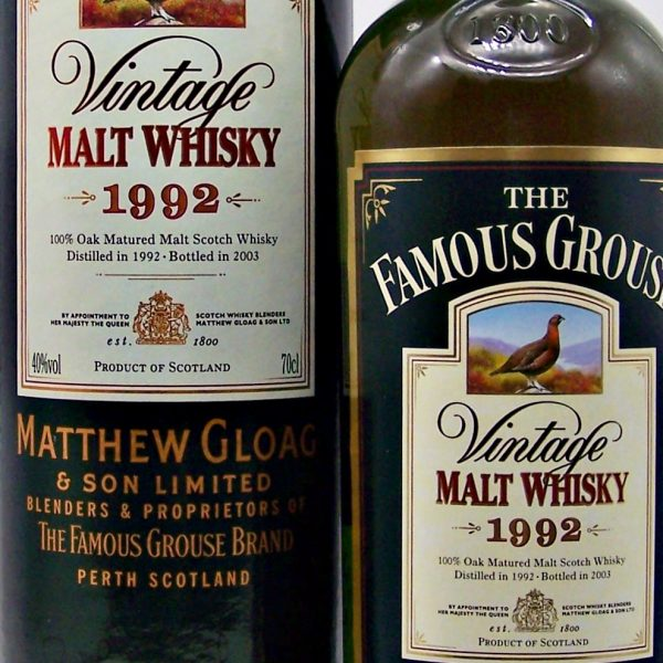 Famous Grouse 1992 Vintage Blended Malt Whisky