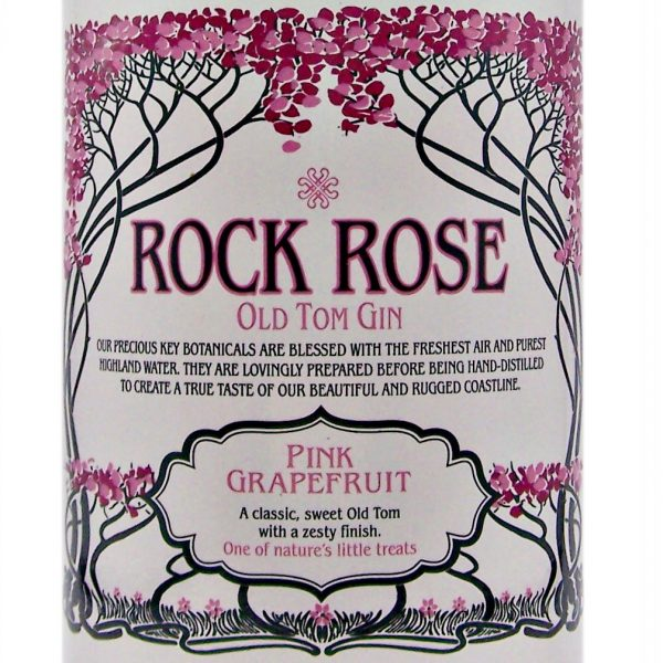 Rock Rose Pink Grapefruit Scottish Old Tom Gin
