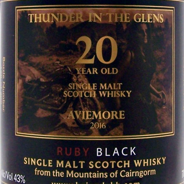 """Thunder in The Glens"" 20 year old Beinn Dubh Black Whisky"