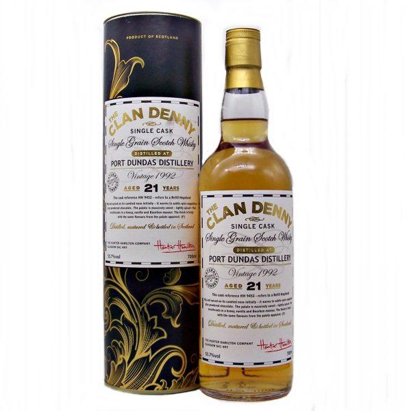 Port Dundas 21 year old Single Grain Whisky Clan Denny