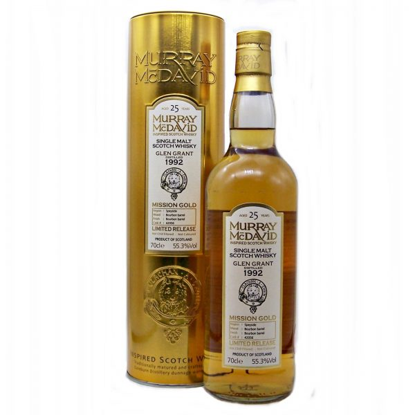 Glen Grant 25 year old Mission Gold Murray McDavid Single Malt Whisky