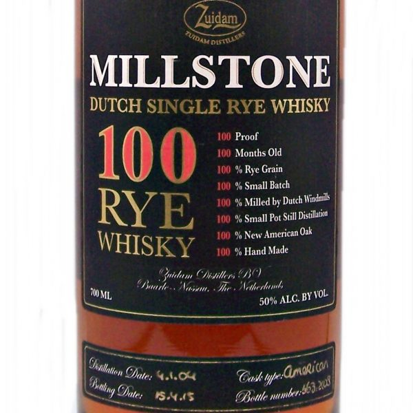 Millstone Dutch Single Rye Whisky Zuidam Distillery