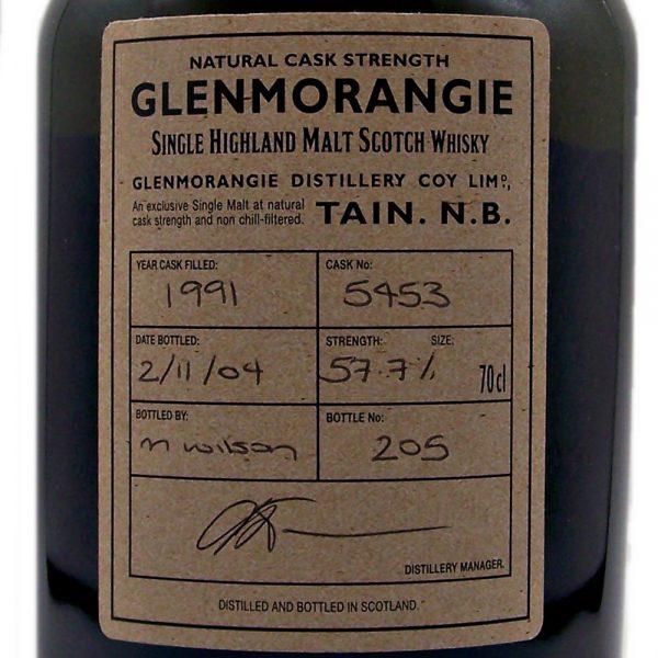 Glenmorangie Speakeasy 1991 Single Cask Strength