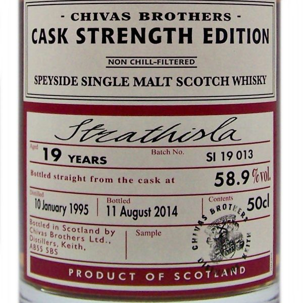 Strathisla 19 year old Cask Strength Chivas Brothers