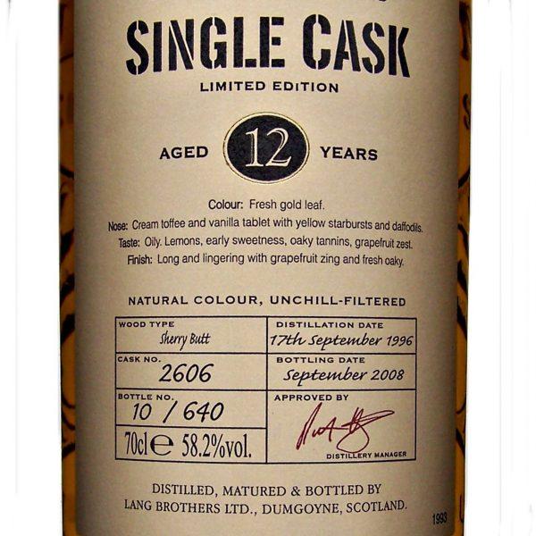 Glengoyne Single Cask Strength 1996 Vintage