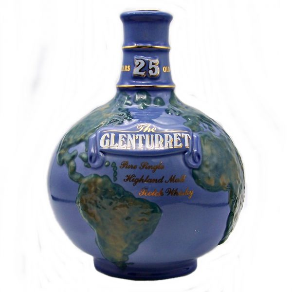 Glenturret 25 year old Single Malt Whisky Globe Decanter