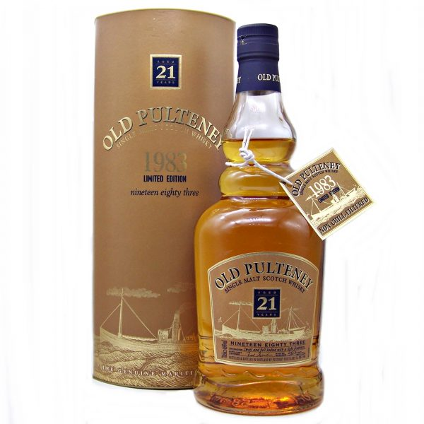 Old Pulteney 21 year old 1983 Vintage