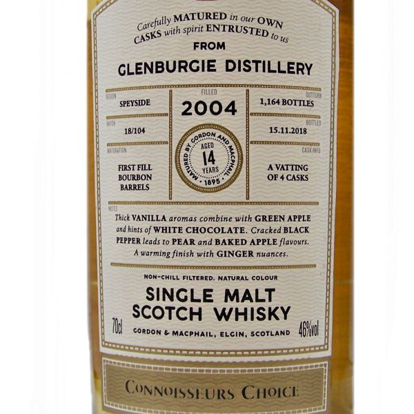 Glenburgie 2004 Connoisseurs Choice 14 year old single malt whisky