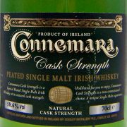 Connemara Cask Strength Peated Irish Single Malt Whiskey