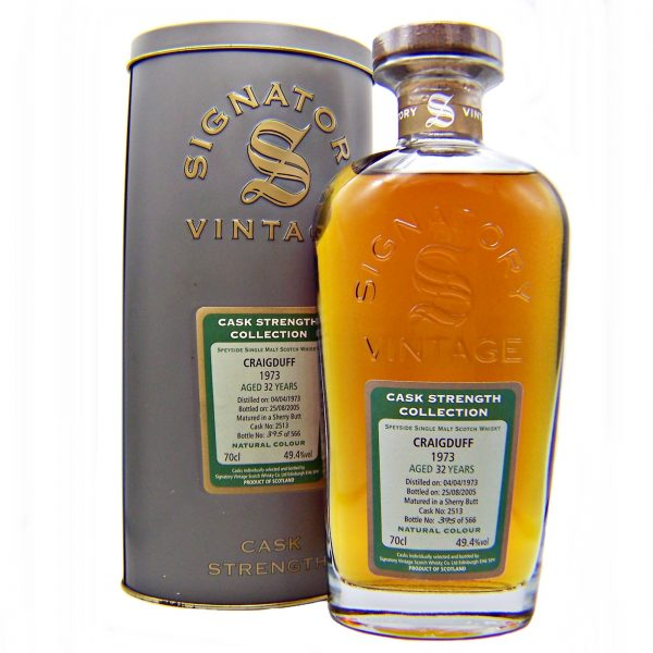 Craigduff 1973 Signatory 32 year old Single Malt Whisky