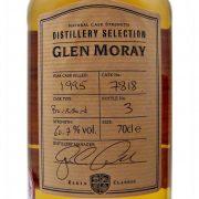 """Glen Moray """" The Jim Clark Malt"""" Single Cask Malt Whisky"""