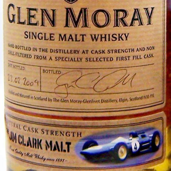 """Glen Moray """" The Jim Clark Malt"""" Single Malt Whisky"""