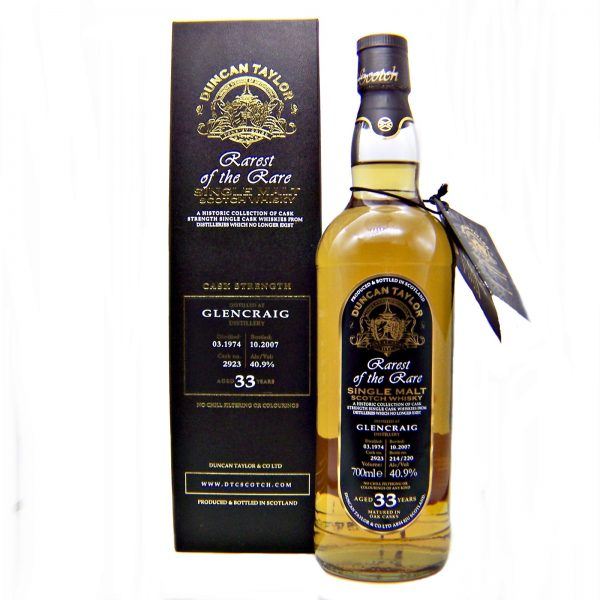 Glencraig 33 year old Single Malt Whisky