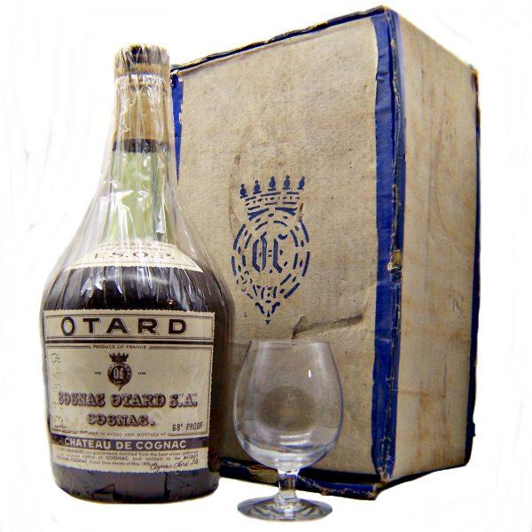 Otard VSOP Cognac 1950's with glasses