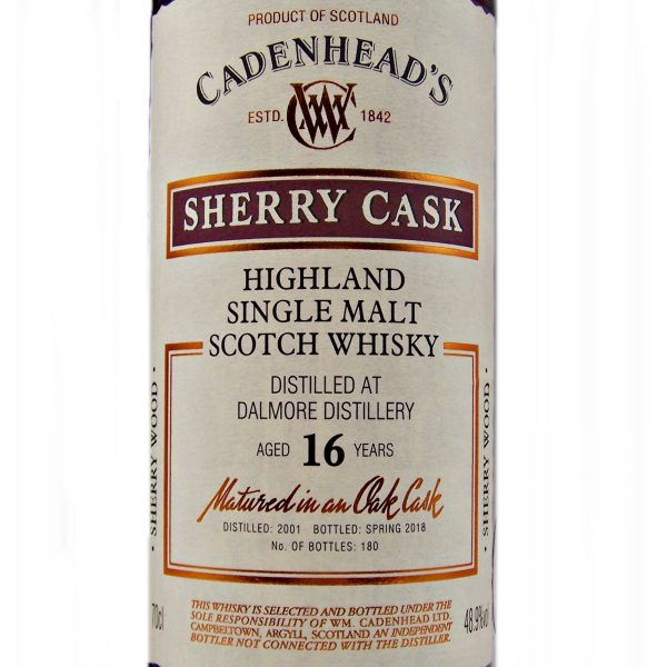 Dalmore 16 year old Sherry Cask Cadenhead's