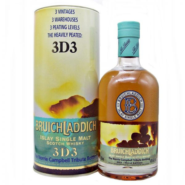 Bruichladdich Heavily Peated 3D3 Norrie Campbell Tribute Bottling