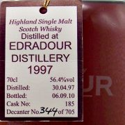 Edradour Natural Cask Strength 1997 Limited Edition