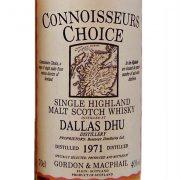 Dallas Dhu 1971 Connoisseurs Choice Single Malt Scotch Whisky