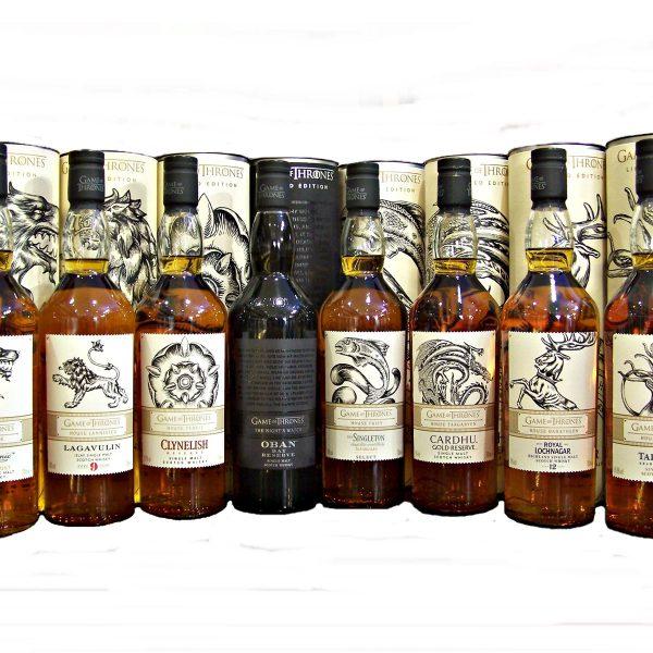 Game of Thrones Set of 8   Single Malt Whiskies