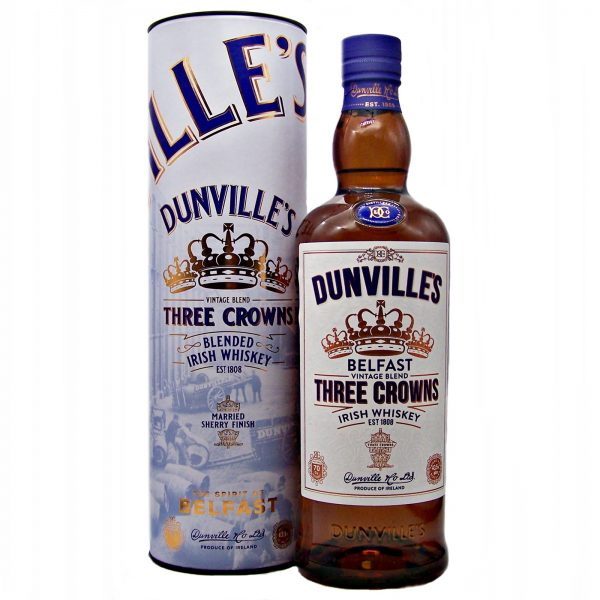 Dunville's Three Crowns Irish Whiskey