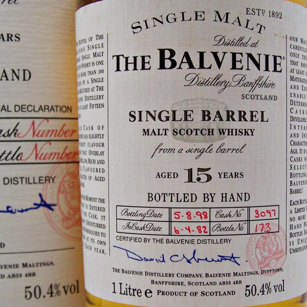 Balvenie 15 year old Single Malt Whisky 1982