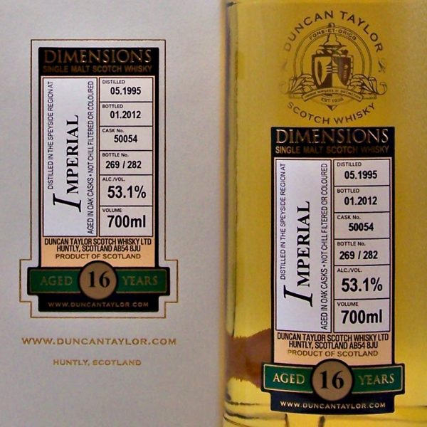 Duncan Taylor 16 year old Imperial Scotch Whisky