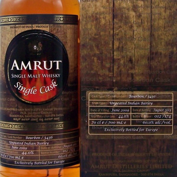Amrut Indian Single Malt Whisky cask #3436