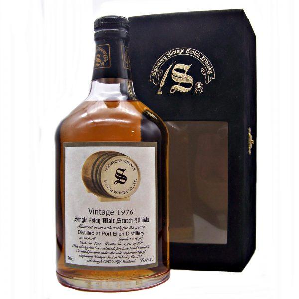 Port Ellen 22 year old 1976 Signatory Vintage Single Malt Scotch Whisky