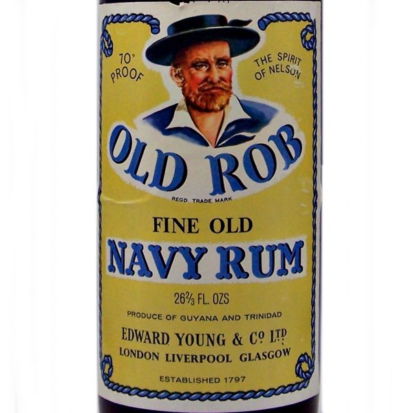 Old Rob Navy Rum 1970's Edward Young & Co Ltd
