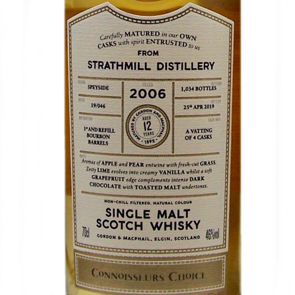 Strathmill 2006 Connoisseurs Choice 12 year old scotch whisky