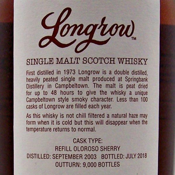 Longrow 14 year old Sherry Cask Strength Single Malt Whisky