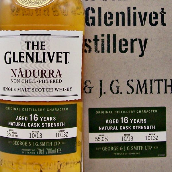 Glenlivet Nadurra 16 year old cask strength malt whisky