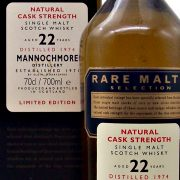 Mannocmore 22 year old Rare Malts Selection