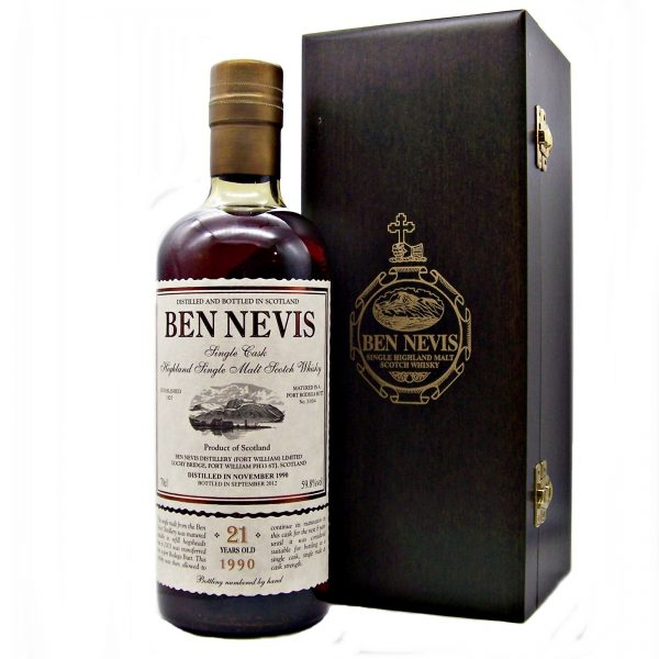 Ben Nevis 21 year old Single Port Wood Cask