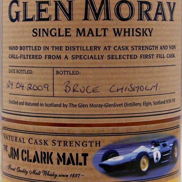 """Glen Moray """" The Jim Clark Malt"""" Cask Strength Malt Whisky"""