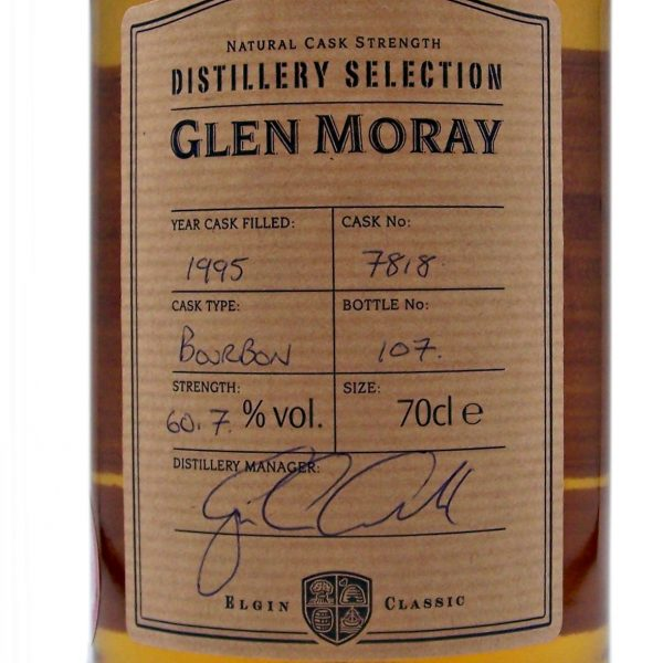 "Glen Moray "" The Jim Clark Malt"" Single Cask Whisky"