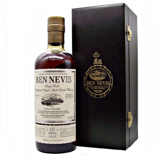 Ben Nevis 10 year old Single Cask White Port Pipe