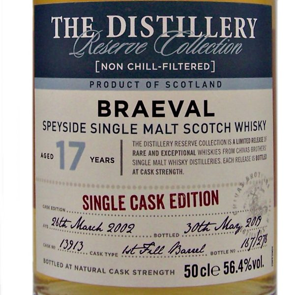 Braeval 17 year old Single Cask Edition Distillery Reserve Collection