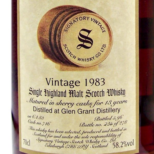 Glen Grant 1983 Single Malt Whisky Signatory Vintage