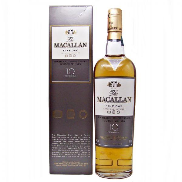 Macallan 10 year old Fine Oak Triple Cask Matured
