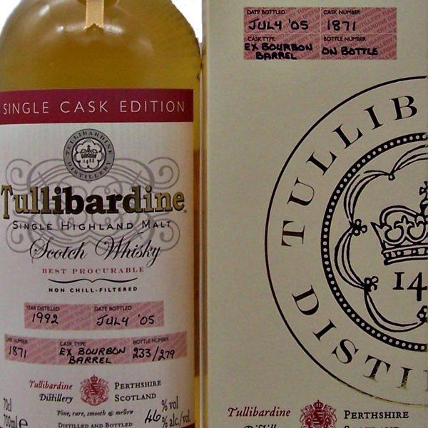 Tullibardine 1992 Single Cask Edition Highland Whisky