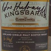 Kingsbarns signed by the Distillery Manager Peter Holroyd.