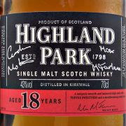 Highland Park 18 year old Whisky Signed Limited Edition