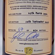 Glen Moray 1992 Fifth Chapter Single Malt Whisky