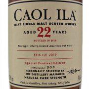 Caol Ila 22 year old Feis Ile 2019 Limited Edition